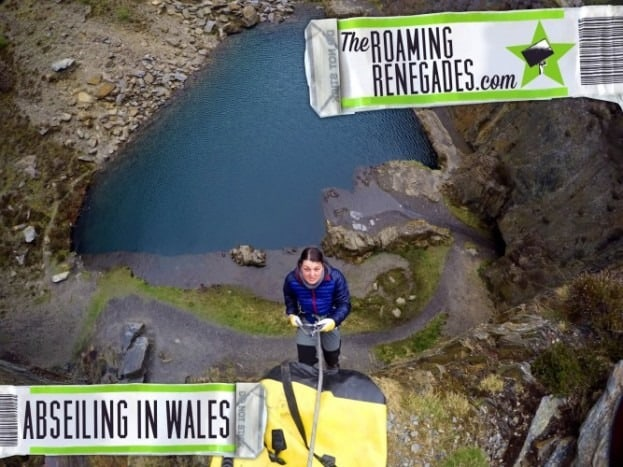 ABSEILING in an unbelievably picturesque abandoned quarry in WALES.