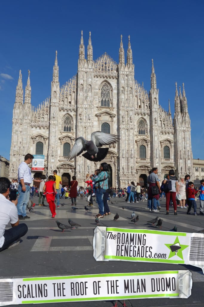 Scaling the roof of the Milan Duomo - The huge cathedral that took 600 years to build! > http://theroamingrenegades.com/2016/04/scaling-the-roof-of-the-milan-duomo.html