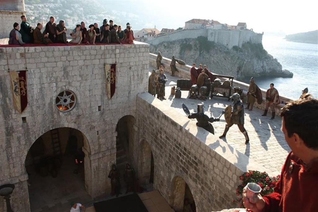 joffreys-name-day-tournament-combatants-anatomy-of-a-throne-Discovering the real King's Landing on the Dubrovnik Game Of Thrones tour!, the red keep, joffrey death, the purple wedding, walk of shame, blackwater bay, belish, sansa, cersei, jaime, tyrion, lannister, scenes, where game of thrones was filmed, filming locations,