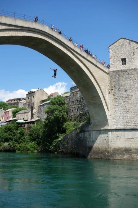 Mostar bridge, Bosnia and Herzegovina, bridge divers, things to see in Mostar, things to do in Mostar, how to jump off the Mostar bridge, jumping off the Mostar bridge, Mostar bridge jumpers