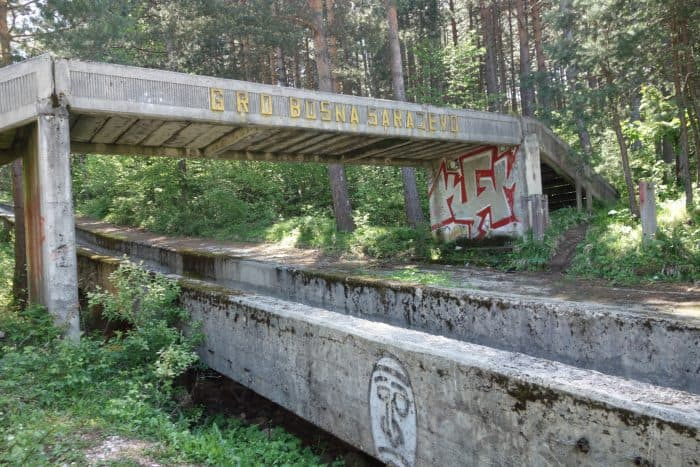 sarajevo bobsleigh track, how to get to the bobsleigh track, olympics, 1984, winter olympics, urban exploration, urbex, abandoned, yugoslavia, bosnia, Herzegovina, balkans, war, civil war, serbia, croatia, balkan war, bullet holes, scars, remnants, soviet, communism, directions, walking, hiking,