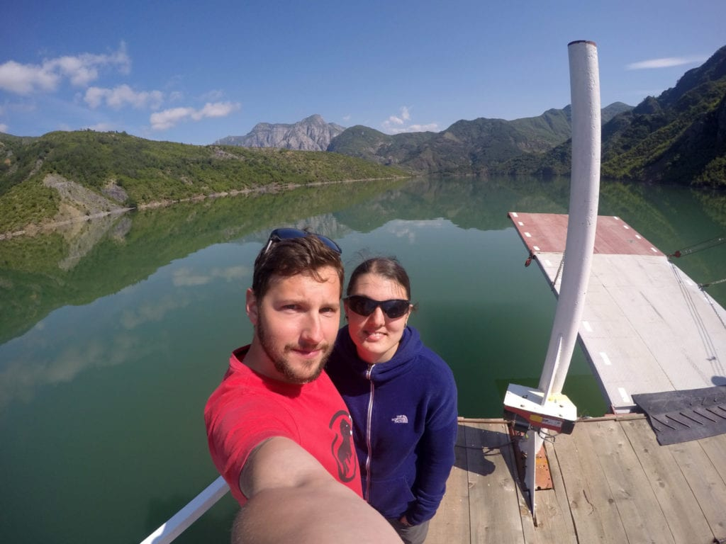 The 3 hour ferry ride through the mountains of Northern Albania that blew us away (and should be on everyones bucket list!), shkoder, skhoder, albania, tirana, mountains, adventure, hike, off the beaten track, off the beaten path, explore, ferry, valbona, albanian alps, Koman, komani, lake, local, rural, fjords, feirze, things to do in Albania, things to see