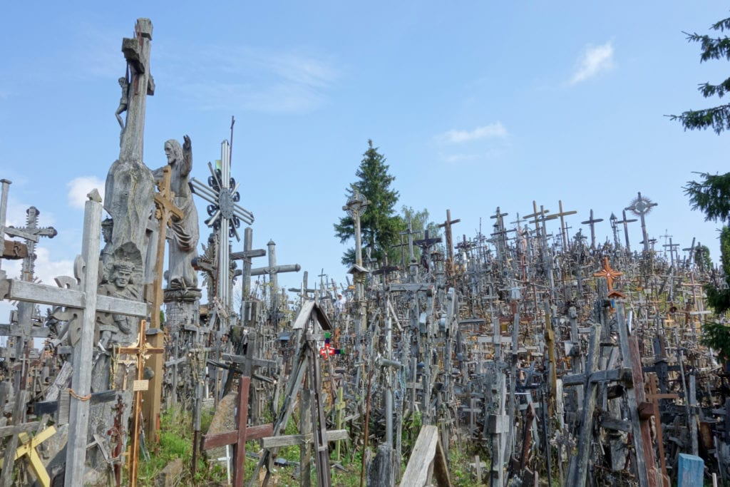 hill of crosses, travel, backpacking, travelling, traveling, europe, Ukraine, kiev, chernobyl, Warsaw, Poland, Latvia, riga, Lithuania, vilnius, Estonia, Tallinn, Finland, Helsinki, ferry, things to do, what to do, night bus, coach, transport, hostels,