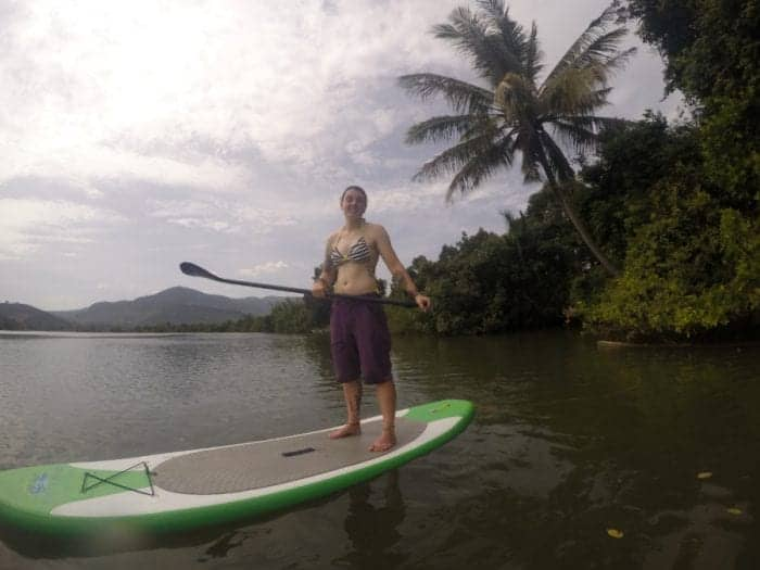 Kampot things to do, things to do in Kampot, what to do in Kampot, Cambodia, Beach, Coast, Coastal, Stand Up Paddleboarding through the mangroves of Kampot on an extra ordinary Cambodian Boxing Day, Stand up Paddle board, SUP, adventure, activities, outdoors, river, sea, swim, checkpoint,