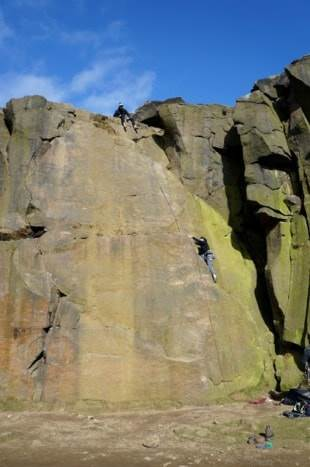 Trad Climbing at Ilkley, Yorkshire.Trad Climbing at Ilkley, Yorkshire.