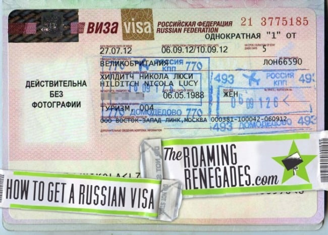 How to apply for a RUSSIAN VISA!