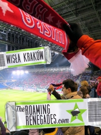 The crazy crowd of a WISLA KRAKOW football game!