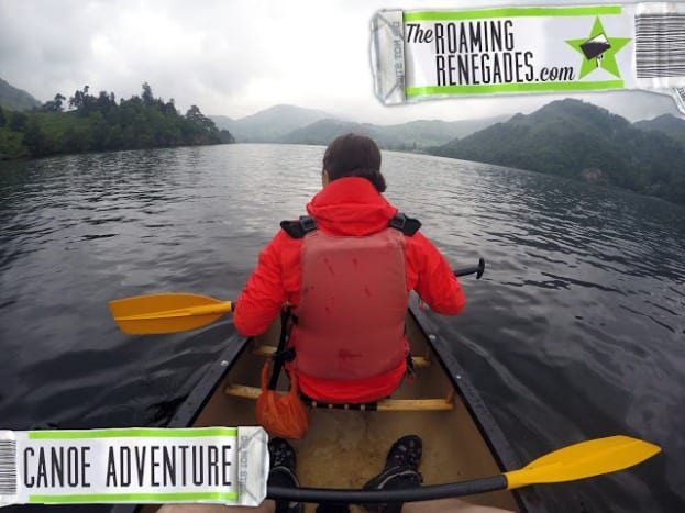 Canoeing on Ullswater, Lake District (with a dog!)