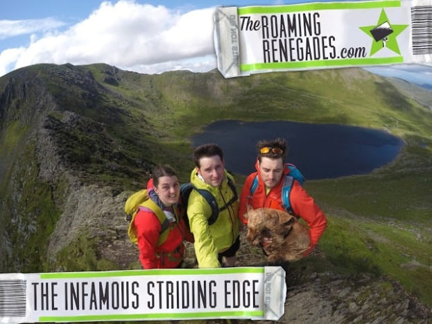 "Crossing the infamous ""Striding Edge"" on Mt. Helvellyn!"