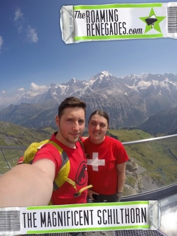 Venturing up the The Schilthorn for unforgettable views of The Eiger, Monch & Jungfrau!