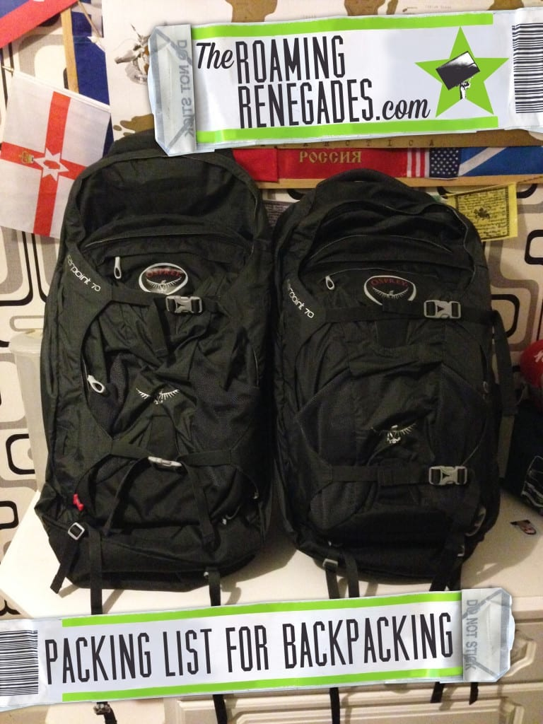 packing list for backpacking, Check list before you go backpacking - Tips for getting ready for your first time, getting ready for travelling, traveling, backpacking, tip, advice, what to do, savings, money, accommodation, hostels, hotels, camping, couchsurf, blog, journal,