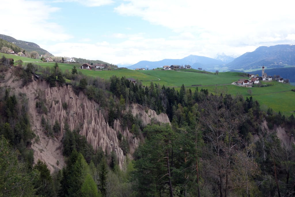 The fascinating Earth pyramids of Bolzano & The amazing Cable Car & hike to visit them!, italy, italia, dolomites, bolzano, bozen, oberbozen, hike, explore, europe, things to do in bolzano, ritten, renon, rittenbahn,