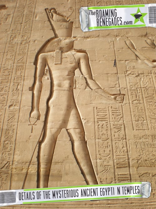 The amazing details of the ancient Egyptian temples of the mystic river Nile