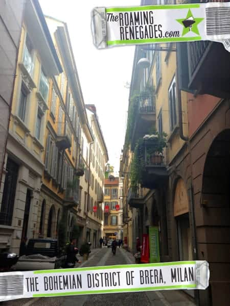 Exploring the traditional and yet bohemian district of Brera, Milan
