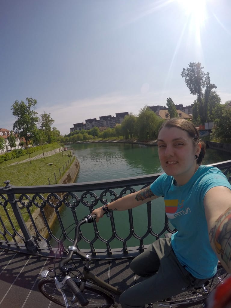 Touring the wonderfully green, friendly and alternative Ljubljana on a bike! Slovenia, watermelon bike tours, castle, alternative, off the beaten track, path, local guide, locals knowledge,