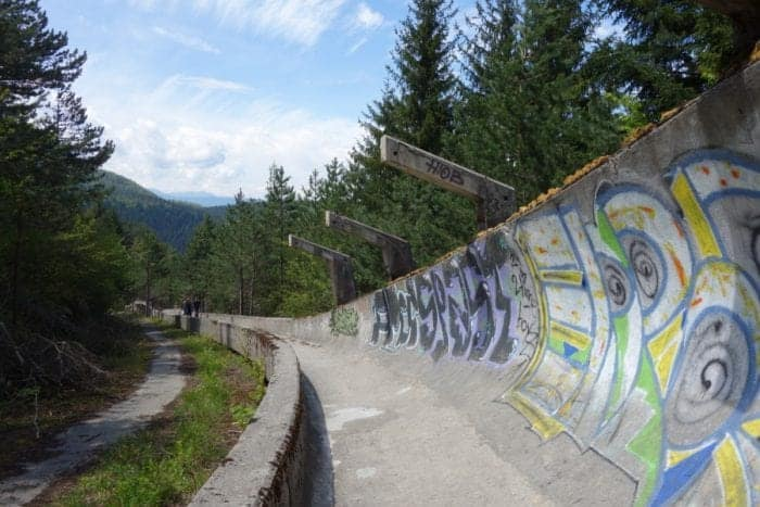 How To Get To the Sarajevo Bobsled Track, Sarajevo Olympic Bobsleigh, How to Visit the Abandoned Sarajevo Bobsled Track, Hiking To The Abandoned Sarajevo Bobsled Track, Sarajevo Bobsleigh Track, How to Visit the Abandoned Sarajevo Bobsled Track, Abandoned Olympic bobsled track in Sarajevo, Sarajevo abandoned bobsled track, Sarajevo 1984 bobsleigh, Sarajevo bobsleigh track, how to get to the bobsleigh track, olympics, 1984, winter olympics, urban exploration, urbex, abandoned, Yugoslavia, Bosnia, Herzegovina, balkans, war, civil war, Serbia, Croatia, balkan war, bullet holes, scars, remnants, soviet, communism, directions, walking, hiking, Backpacking the Balkans, Balkan trip, things to do in Sarajevo, things to do in Bosnia, alternative things to do in Sarajevo, Things to do in Bosnia and Herzegovina, how to get to the Sarajevo Bobsled Track,