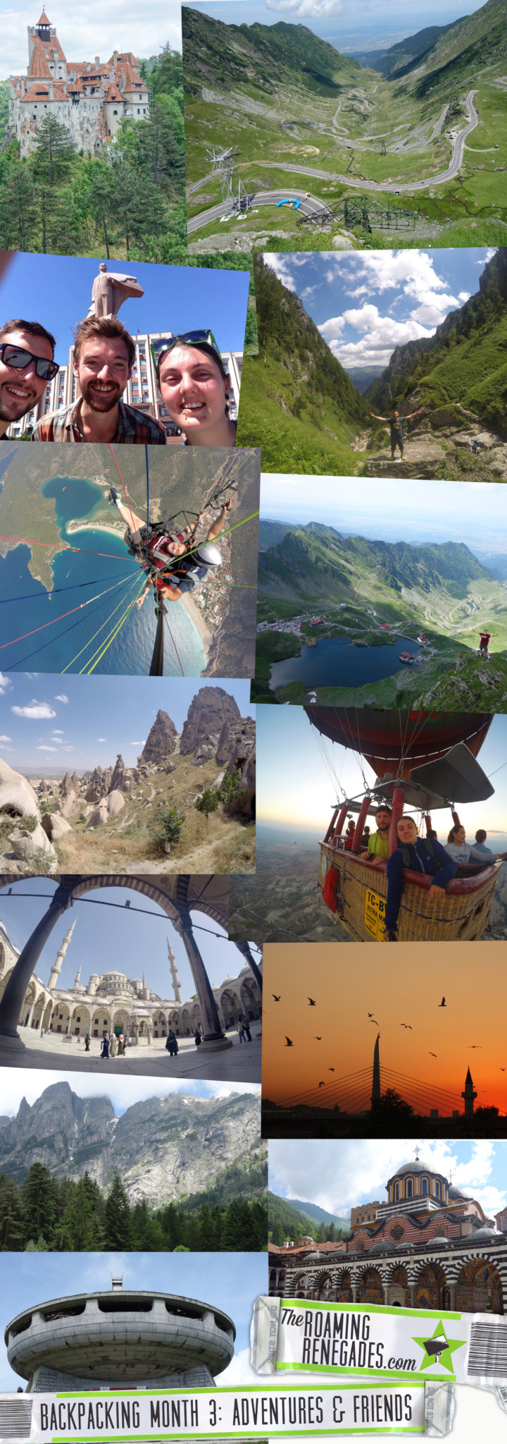 backpacking, monthly round up, bulgaria, rila, turkey, capadoccia, istabul, fethiye, rila, hike, transyvania, romania, moldova, chisinau, explore, adventure, mountains, hisaronu, paraglide, hot air balloon, voyager balloons,