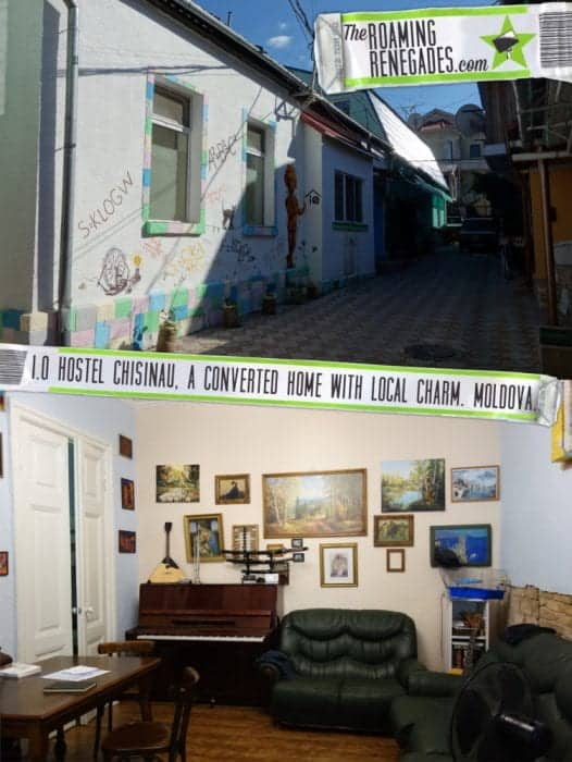 I.Q Hostel Chisinau, a converted home with local charm. Moldova. > https://theroamingrenegades.com/2016/10/iq-hostel-chisinau-moldova.html