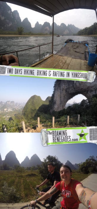 A guide to the Guilin area of China: Yangshuo, Xingping and beyond, Things to do in Guilin, what to do, guide, where to stay in Guilin, how to get to Yangshuo, bus, train, minibus, transport, time, farms, rural, climbing, hike, bamboo raft, scams, karst, mountains, river, Li, Yulong, cycling, bike, hire a bike, this old place, sadder street, guilin china, guilin tour, guilin weather, guilin travel,yangshuo china, yangshuo hotels, guilin yangshuo, yangshuo hostel, yangshou rock climbing, Yangshuo mountains, li river cruise, Xingping china, Xingping this old place international hostel, backpacking china, adventure activities, adreneline, traditional, explore, Two days exploring the peaks, rivers and farms of wonderful Xingping & Yangshuo via bikes, boats and boots!