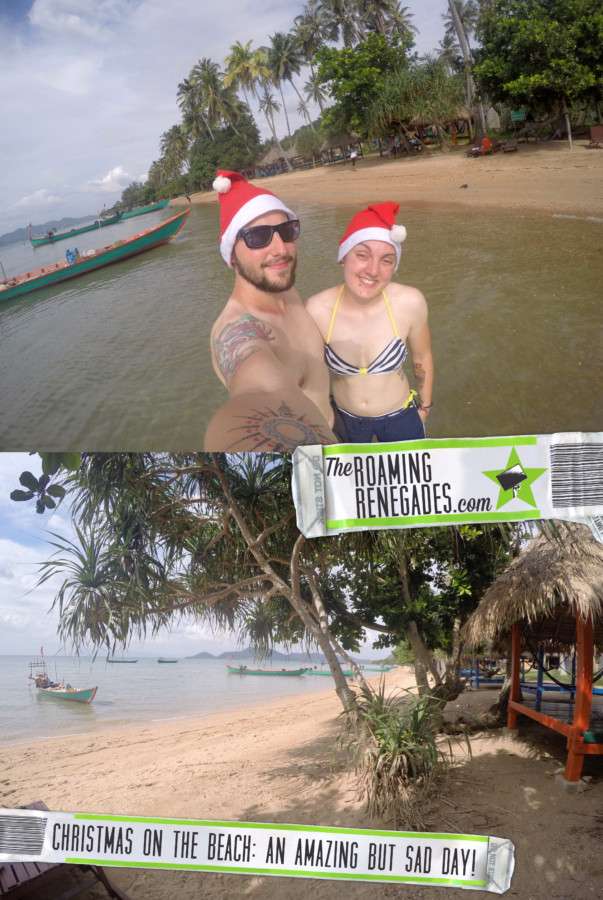 Koh Tonsay Cambodia, Spending Christmas on the beach: A day of adventure to find paradise on a Cambodian Island for a different type of celebration, Beach, abroad, Cambodia, Kep, Kampot, Siem Reap, Angkor Wat, Adventure, Beach, sea, swim, island, Koh, rabbit island, Koh Tonsay, bungalow, bungalow on the beach, drinking from a coconut, Santa, hot Christmas,