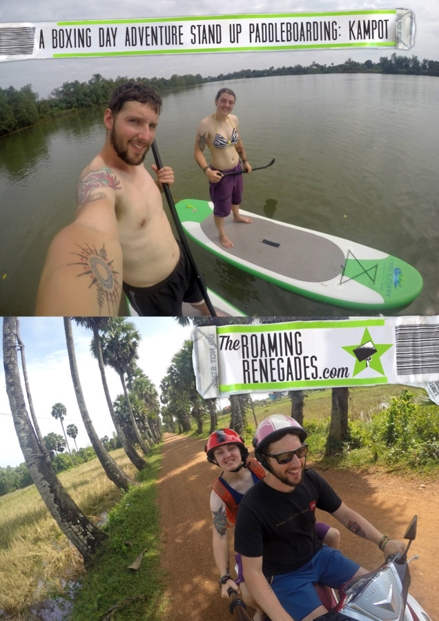 Stand Up Paddleboarding through the mangroves of Kampot on an extra ordinary Cambodian Boxing Day: