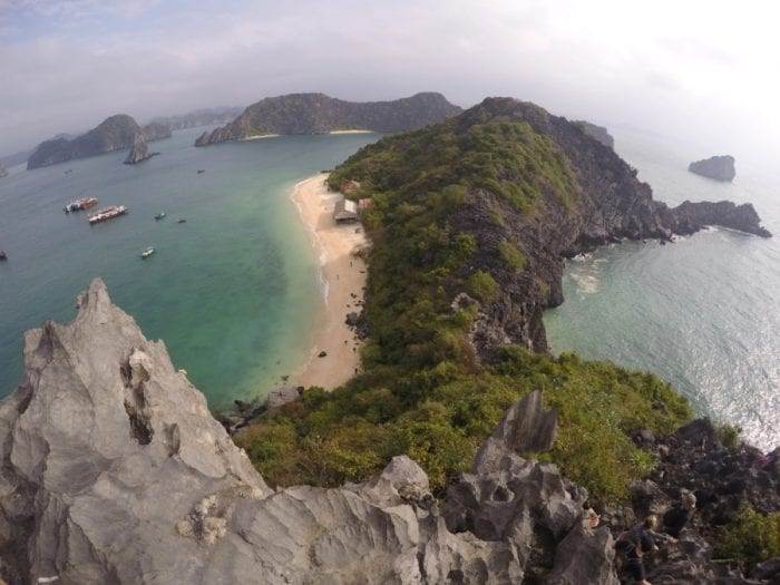 Heading to Cat Ba island and doing amazing Ha Long bay on a backpacker budget, Ha Long Bay Vietnam, Ha Long bay cruise, Ha Long bay tours, Ha Long bay trip, Halong bay, Kayak, cheap, budget, from Hanoi, Ha Long bay without a tour, Money island, hike, monkeys, beach, swim, karst, mountain, Cat Ba Vietnam, Cat Ba Island, Cat ba hotel, Cat Ba island Vietnam