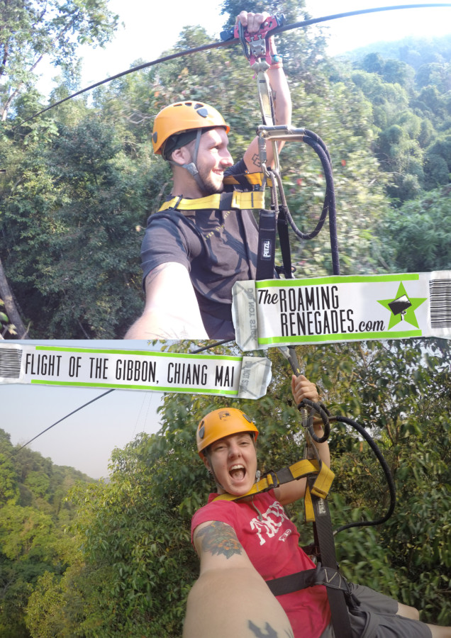 Flying through the rainforest with Flight of The Gibbon, Chiang Mai! An adventure tour with a conscience! THAILAND > https://theroamingrenegades.com/2017/05/flight-of-the-gibbon-chiang-mai-tours.html