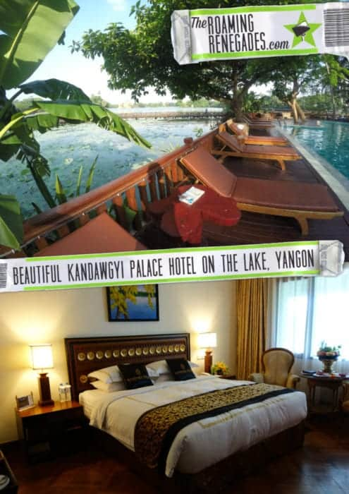 Kandawgyi Palace: The grand old hotel on the Royal lake of Yangon. 5* paradise in this crazy city!