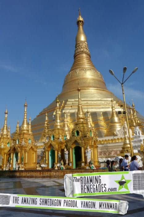 Strolling around the awe inspiring Shwedagon pagoda, Yangon, Myanmar, Burma, shwedagon paya, Bagan, Inle, Buddhism, monk, What to wear at the Shwedagon pagoda, cost, Burma tours, long pants, trousers, longyi,